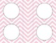 Pale Pink Chevron Classroom Labels and Tags