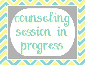 Pale Yellow, Tiffany Blue and Gray - Counseling Session In