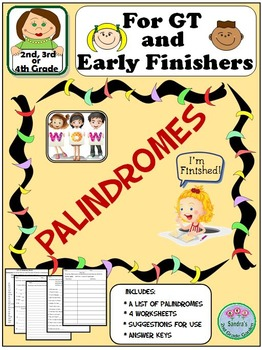 Palindromes Pack for GT and Early Finishers