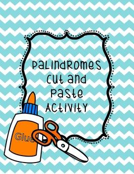 Palindromes Sort Activity
