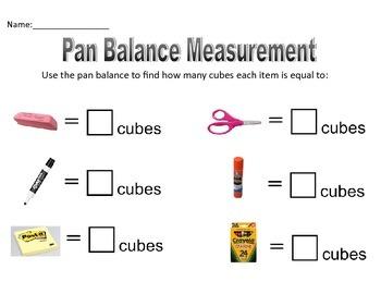 Pan Balance Measurement