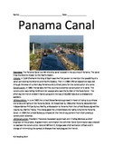 Panama Canal - review article 25 questions vocabulary word search