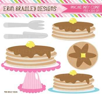 Pancake Clipart - Fork Knife Graphics