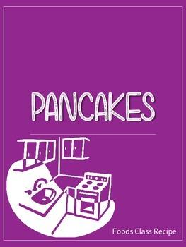 Pancake Recipe - Food Studies and Home Ec Printable