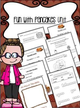Pancake Writing and Reading Fun Kindergarten First Grade
