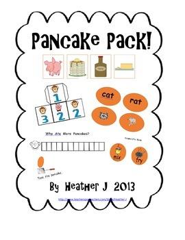 Pancakes!  Literacy and Math Activities { Freebie }