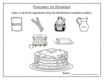 Pancakes for Breakfast - Coloring Page