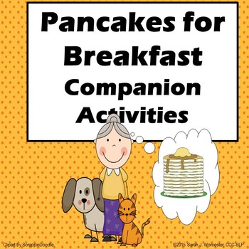 Pancakes for Breakfast Companion Activities for Speech and