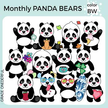 Panda Bear Clipart for All Seasons