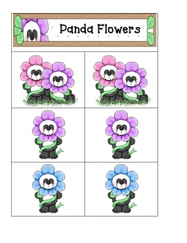 Panda Flowers- Card Matching easy