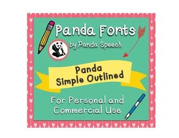 Panda Fonts: Single Font: Panda Simple Outlined