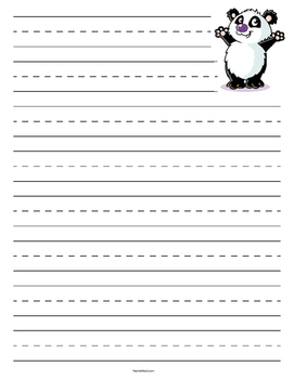 Panda Primary Lined Paper
