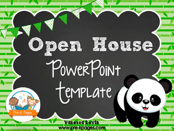 Panda Theme Open House ~ Back-to-School ~ PowerPoint Templ