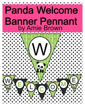 Panda Theme Welcome Banner Pennant