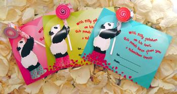 Panda Valentines Day Card