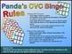 Panda's CVC Three Letter Words Bingo Game for Literacy