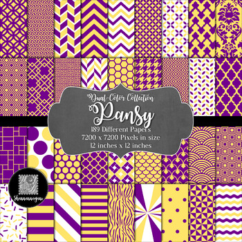 Pansy Digital Paper Collection 12x12 300dpi