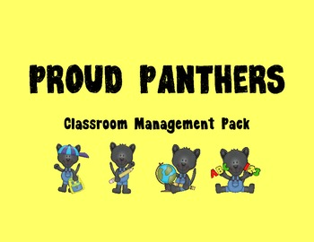 Panther Themed Classroom Management Forms and Posters