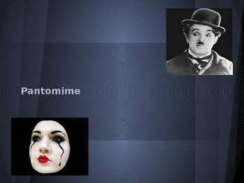 Pantomime Acting Activity and PowerPoint