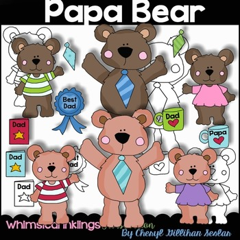 Papa Bear/Fathers Day Clipart Collection