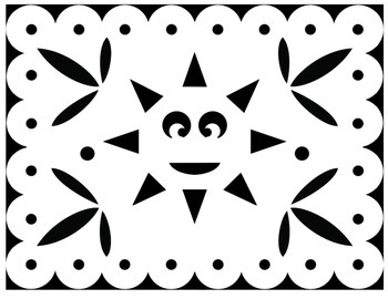Papel Picado Coloring Sheets - for Cinco de Mayo and other