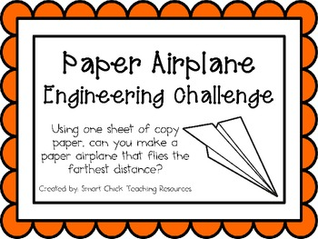 Paper Airplane: Engineering Challenge Project ~ Great STEM