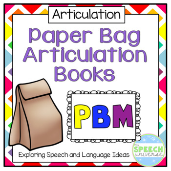 Paper Bag Articulation Books: P, B, and M