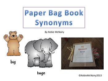 Paper Bag Book Synonyms for Word Work