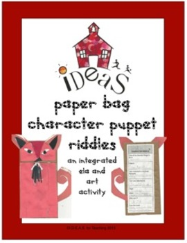 Paper Bag Character Puppet Riddles ELA/Art Integrated and