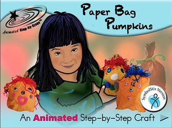 Paper Bag Pumpkins - Animated Step-by-Step Craft SymbolStix