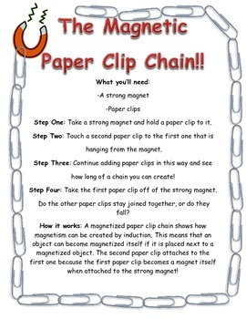 Paper Clip Chain - Magnetism