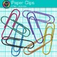 Rainbow Paper Clips Clip Art {Back to School Supplies for