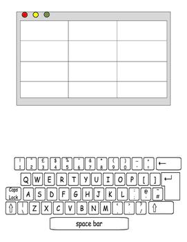Paper Computer- Practice 'TYPING' spelling words