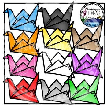 Paper Cranes Clipart Bundle