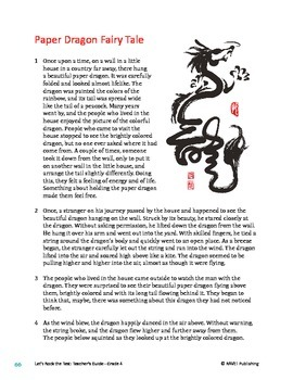 Paper Dragon Fairy Tale - Literary Text Test Prep