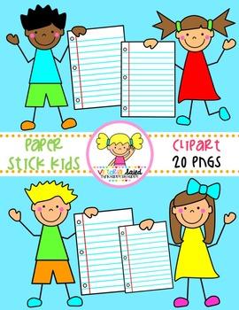 Paper Kids Clipart