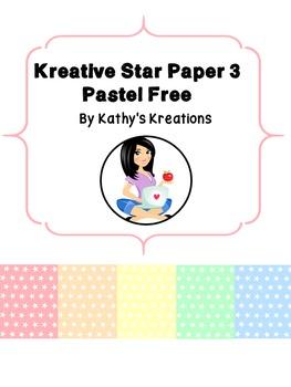 Paper Kreative Star Free #3 Pastel