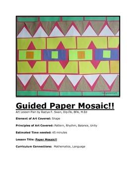Paper Mosaic!! Art Lesson!!!