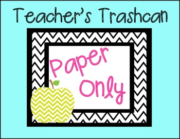 Paper Only Sign {Freebie}
