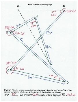 Paper Orienteering, Geometry, Protractor, Angle, Ruler, CW