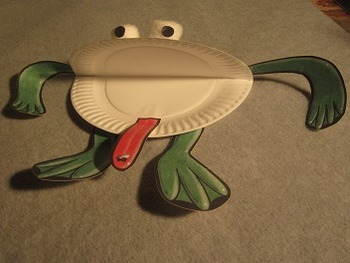 Paper Plate Frog. Fun Craft Art