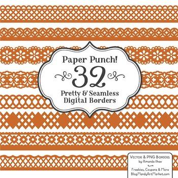 Paper Punch Pumpkin Borders Clipart & Vectors - Border Cli