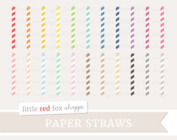 Paper Straw Clipart