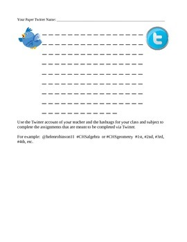 Paper Twitter Post