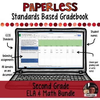 Paperless Digital Standards Based Gradebook - 2nd Grade BUNDLE