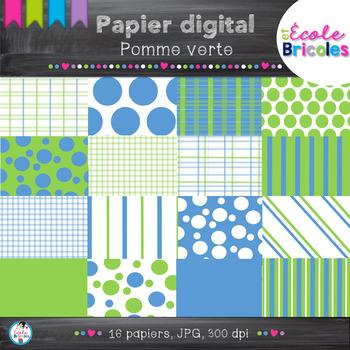Papier digital- Docudéco Pomme verte/Green apple digital paper