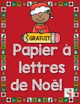FREEBIE/Papier à lettres pour écrire des lettres à Noël