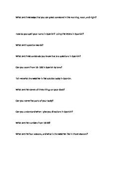 Para Empezar Study Guide Spanish 1