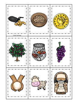 Parables in the Bible Memory Match printable game. Prescho