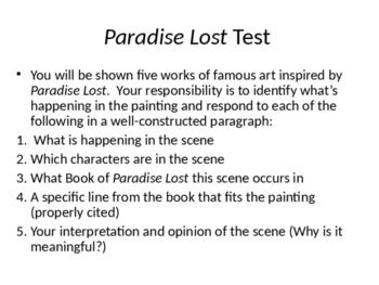 Paradise Lost Art Test